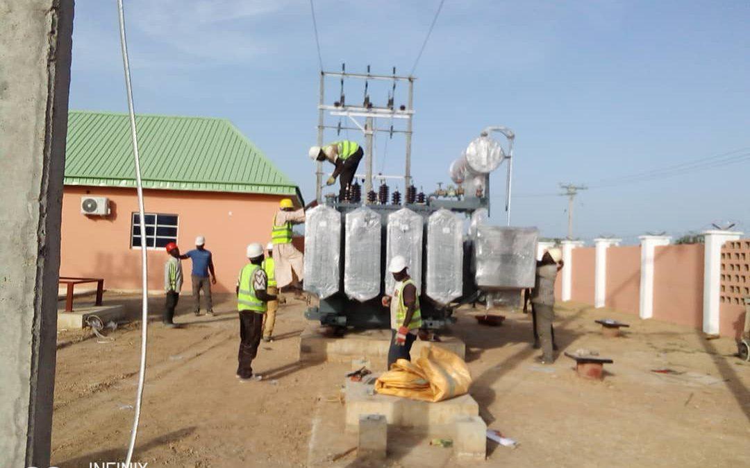 5000 KVA, 33/11 KV Transformer installation at Nigeria site